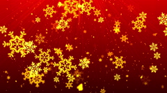 Christmas Red SnowFlakes - stock footage