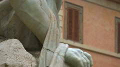 Stock Video Footage of ULTRA HD 4K real time shot,The Fountains in the Piazza Navona in Rome