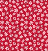 Seamless Christmas Winter Pattern with Snowflakes Isolated on Re - stock illustration