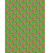 Seamless Christmas Pattern with Candy Cane Stick Isolated on Gre - stock illustration
