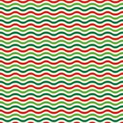 Seamless Wave Pattern in Christmas Colors Isolated on White Stock Illustration