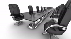 Boardroom animation , and top view Stock Footage