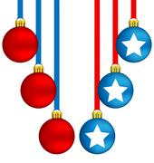 Stock Illustration of Christmas balls in US colors