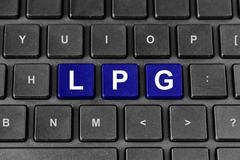 LPG or Liquefied petroleum gas on keyboard - stock illustration