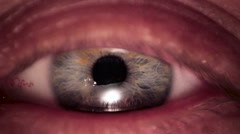 Man Eye iris contracting Stock Footage