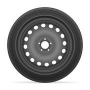 Car wheel tire Stock Illustration