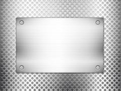 Stock Illustration of metal grid square plate