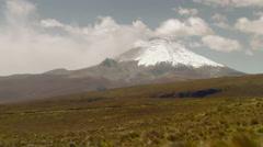 Ecuadorian Andes Range And Cotopaxi Volcano Stock Footage