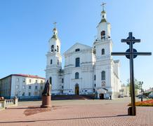 Holy Dormition Cathedral on the Uspenskaya mountain, Vitebsk, Belarus Stock Photos