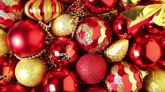 Christmas tree decorations - stock footage