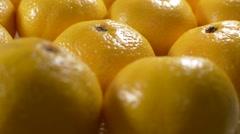 Mandarin fruit rotate - stock footage