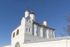 Nadvratnaya Church in Pokrovsky nunnery built in a 16th century in Suzdal. Go - stock photo