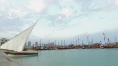 Dhows in the beach Stock Footage