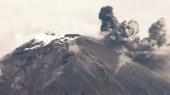 Tungurahua Volcano Eruption 2015 Stock Footage