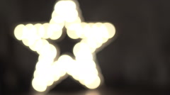 Star decoration with lamps wall Stock Footage
