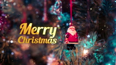 Merry christmas intro - stock footage