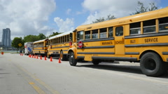 School buses Stock Footage