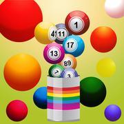 Bingo balls from paint tin Stock Illustration