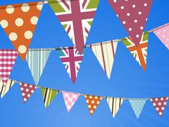 Bunting on blue sky Piirros