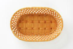 Decorative wicker table basket for bread, sweets or fruits Stock Photos