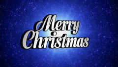 Stock Video Footage of Merry Christmas Text in Disco Dance Tunnel, Rotation, Loop, with Alpha Channel,