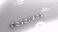 Reserves growing chart, statistic and data - stock footage