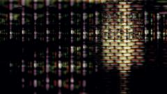 TV screen pixels flicker with video motion - Video Flux 045 HD, 4K Stock Footage