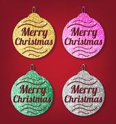 Stock Illustration of Christmas glitter balls
