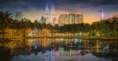 Kuala Lumpur night Scenery, The Palace of Culture Stock Photos