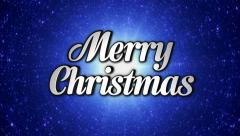 Merry Christmas Text in Disco Dance Tunnel, In / Out, Rotation, Loop, with Alpha - stock footage