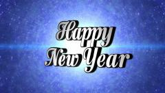 Stock Video Footage of Happy New Year,  Text in Disco Dance Tunnel, Rotation, Loop, with Alpha Channel,