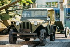 The Willys MB - Jeep,  U.S. Army Truck, 4x4 was a four-wheel drive utility Stock Photos