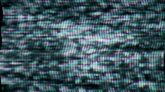 TV snow fills the screen - TV Noise 0977 4K Stock Video Stock Footage