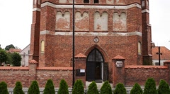 Church of Sts. Anna located in Barczewo, Poland - stock footage