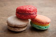 Assortment of french macarons Stock Photos