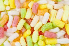 Color plastic foam Stock Photos