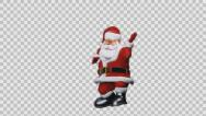 Stock Video Footage of Santa Claus jumping upside down, Alpha PNG