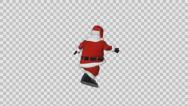 Stock Video Footage of Santa rotating happy, Alpha PNG
