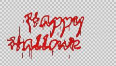 Blood Happy Halloween, Alpha PNG Stock Footage
