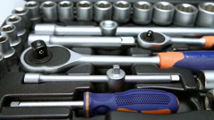 set of the metalwork tool for repair work - stock footage