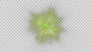 Stock Video Footage of Green fireworks holiday background, Alpha PNG