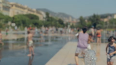 Happy girl in sunglasses walking on the French Riviera  - stock footage