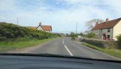 Approaching small country village in Somerset, UK. Stock Footage