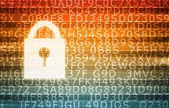Stock Illustration of Data Center Secure Servers