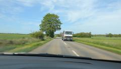 Driving in the countryside in Somerset, UK. Stock Footage