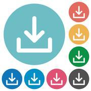 Flat download icons Stock Illustration