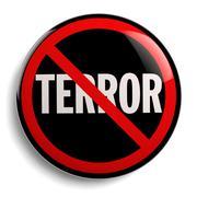 Stock Illustration of Stop Terror Sign