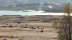 CALIFORNIA DROUGHT FOLSOM LAKE LOW DRY WATER LEVELS Stock Footage