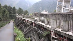 Tourist road next to the building,wenchuan National Earthquake Memorial Museum Stock Footage
