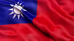 4K Taiwan flag seamless loop Ultra-HD Stock Footage